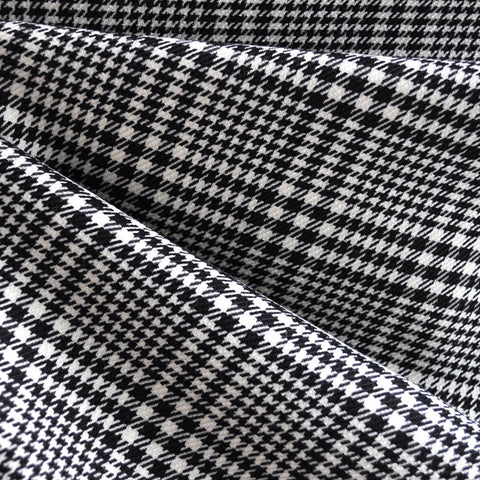 Woven Glen Plaid Black/Cream