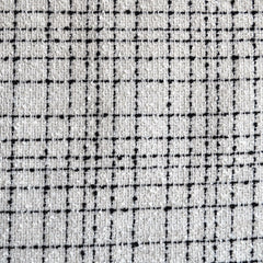 Plaid Boucle White/Black - Sold Out - Style Maker Fabrics