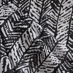 Sheer Herringbone Black/White - Fabric - Style Maker Fabrics