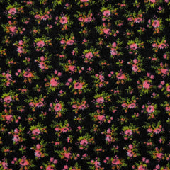 Jersey Knit Tiny Floral Black/Coral - Sold Out - Style Maker Fabrics