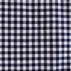 Linen Blend Check Navy/Cream - Sale - Style Maker Fabrics