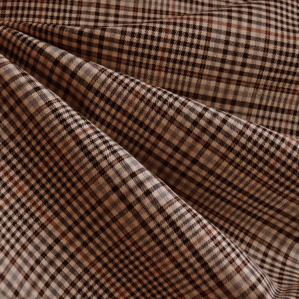 Small Shepherd's Check Suiting Beige/Black - Sold Out - Style Maker Fabrics