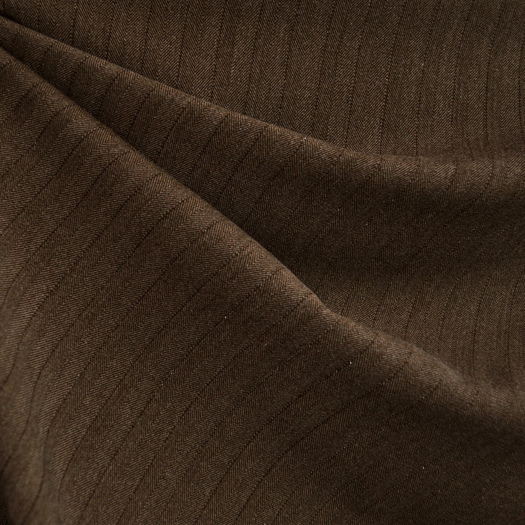 Herringbone Bottom Weight Brown SY - Sold Out - Style Maker Fabrics