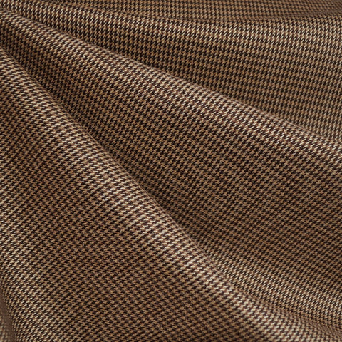 Mini Houndstooth Suiting Brown/Beige