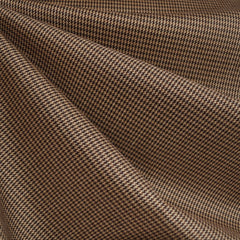 Mini Houndstooth Suiting Brown/Beige SY - Sold Out - Style Maker Fabrics