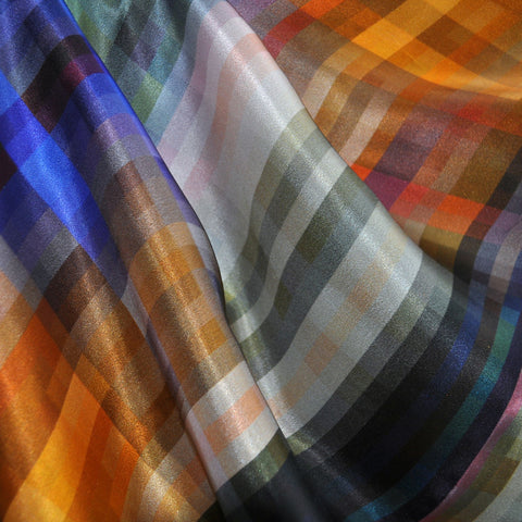 Abstract Digital Silk Print Multi