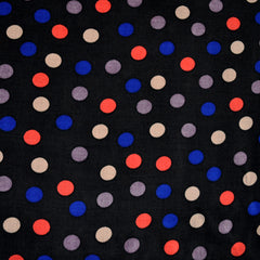 Rayon Challis Dot Black/Multi SY - Sold Out - Style Maker Fabrics