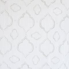 Cotton Gauze Medallion Print White/White - Fabric - Style Maker Fabrics