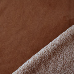 Reversible Shearling/Suede Rust/Tan - Sold Out - Style Maker Fabrics