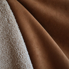 Reversible Suede/Shearling Rust/Tan SY - Sold Out - Style Maker Fabrics