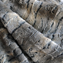 Plush Faux Fur Taupe/Grey - Sold Out - Style Maker Fabrics