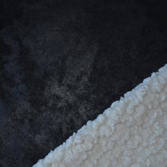 Reversible Shearling/Suede Black/Cream - Fabric - Style Maker Fabrics