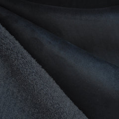 Reversible Shearling/Suede Black/Charcoal - Sold Out - Style Maker Fabrics