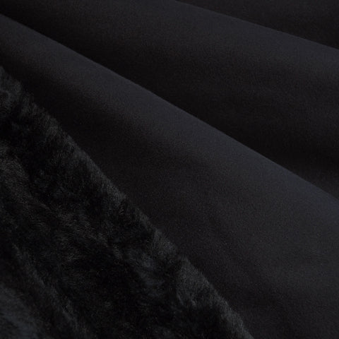 Reversible Suede/Fur Black/Black