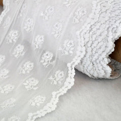 Stretch Lace Rose Trim 8 inch - Trim - Style Maker Fabrics