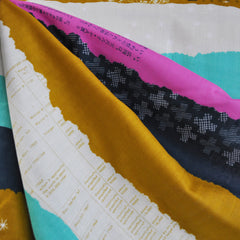 Bespoke Double Gauze Ephemera Mustard - Sold Out - Style Maker Fabrics