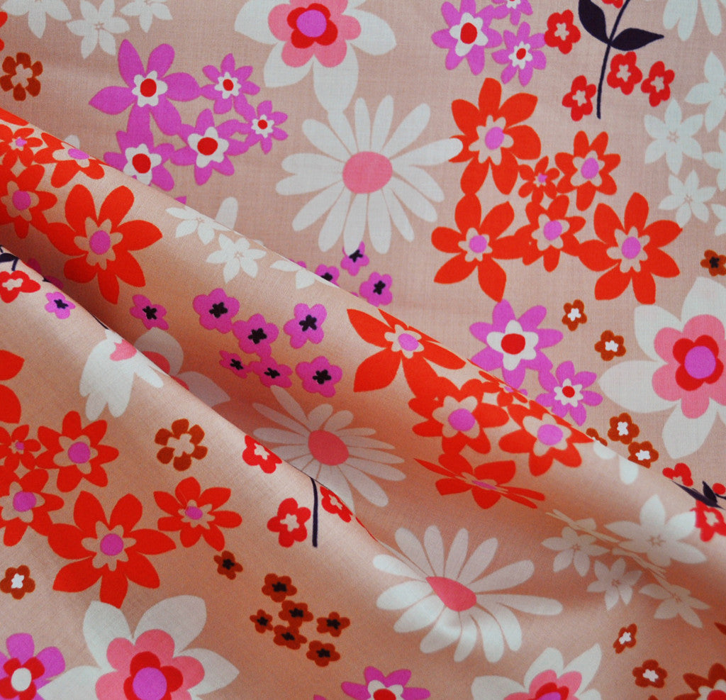 Vintage Floral Lawn Pink SY - Sold Out - Style Maker Fabrics