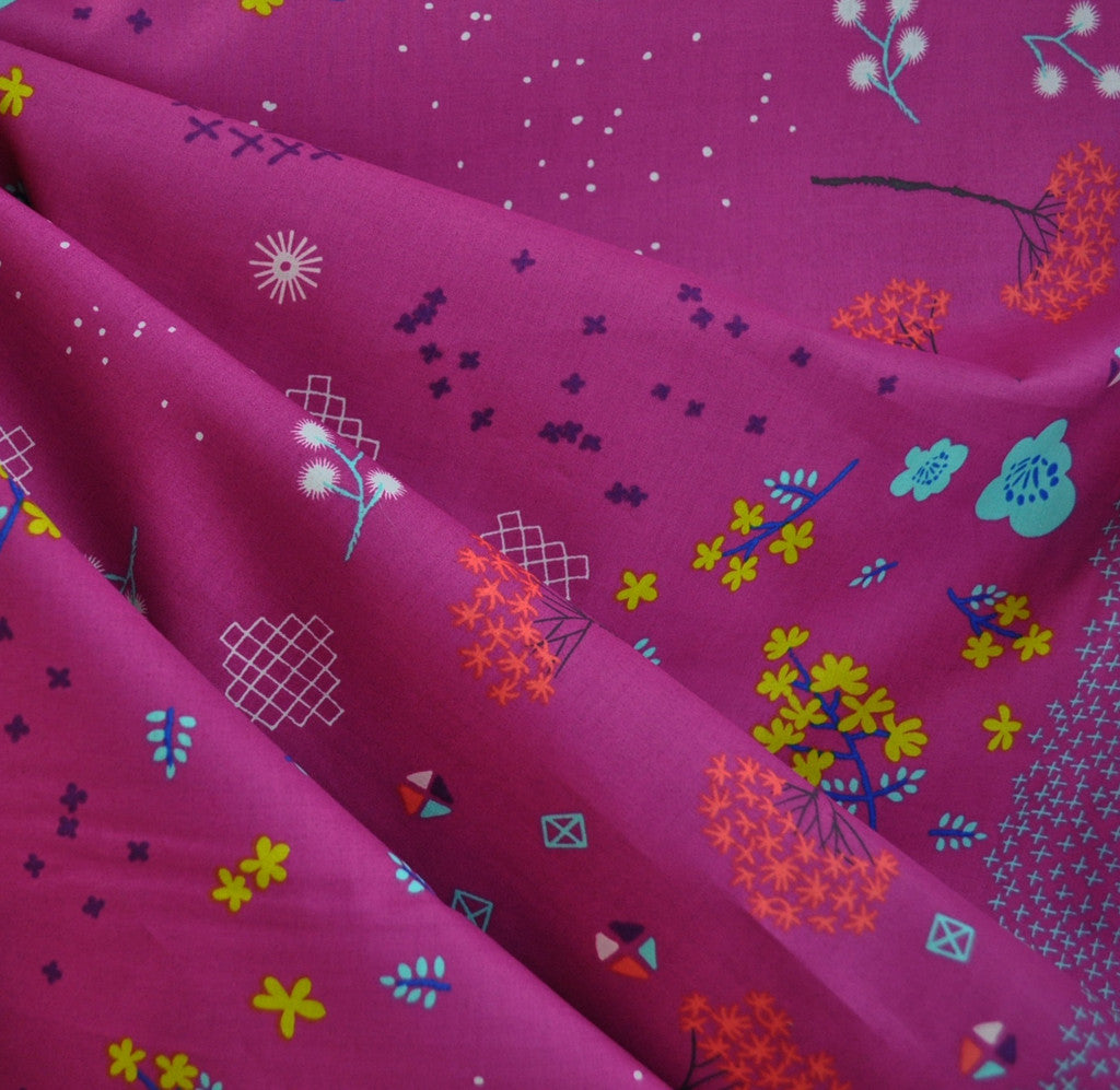 Mochi Floral Lawn Orchid SY - Sold Out - Style Maker Fabrics