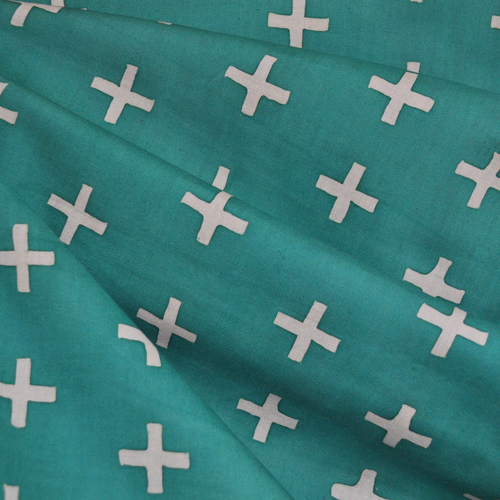 Handcrafted Cotton Plus Teal - Sale - Style Maker Fabrics