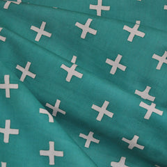 Handcrafted Cotton Plus Teal - Fabric - Style Maker Fabrics
