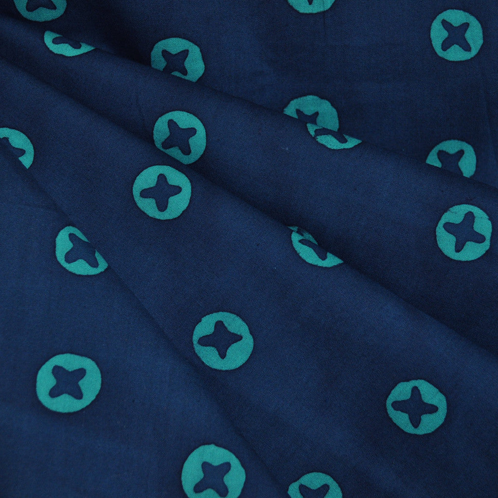 Handcrafted Cotton Penny Navy - Fabric - Style Maker Fabrics