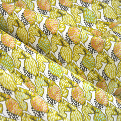 Wonder Forest Cotton Lawn Deer Golden - Fabric - Style Maker Fabrics