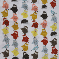 Kokka Animal Runaway Double Gauze White SY - Sold Out - Style Maker Fabrics
