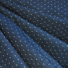 Cotton Chambray Dots Indigo - Sold Out - Style Maker Fabrics