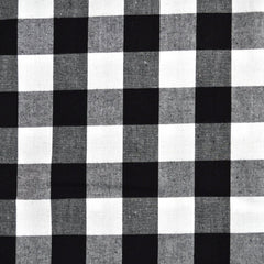 Gingham Shirting Black/White SY - Sold Out - Style Maker Fabrics