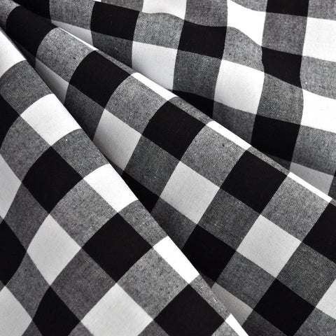 Gingham Shirting Black/White SY