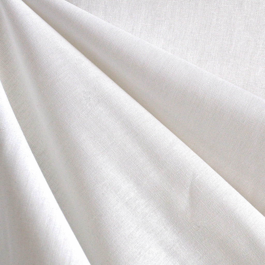Essex Wide Linen Blend White - Sold Out - Style Maker Fabrics