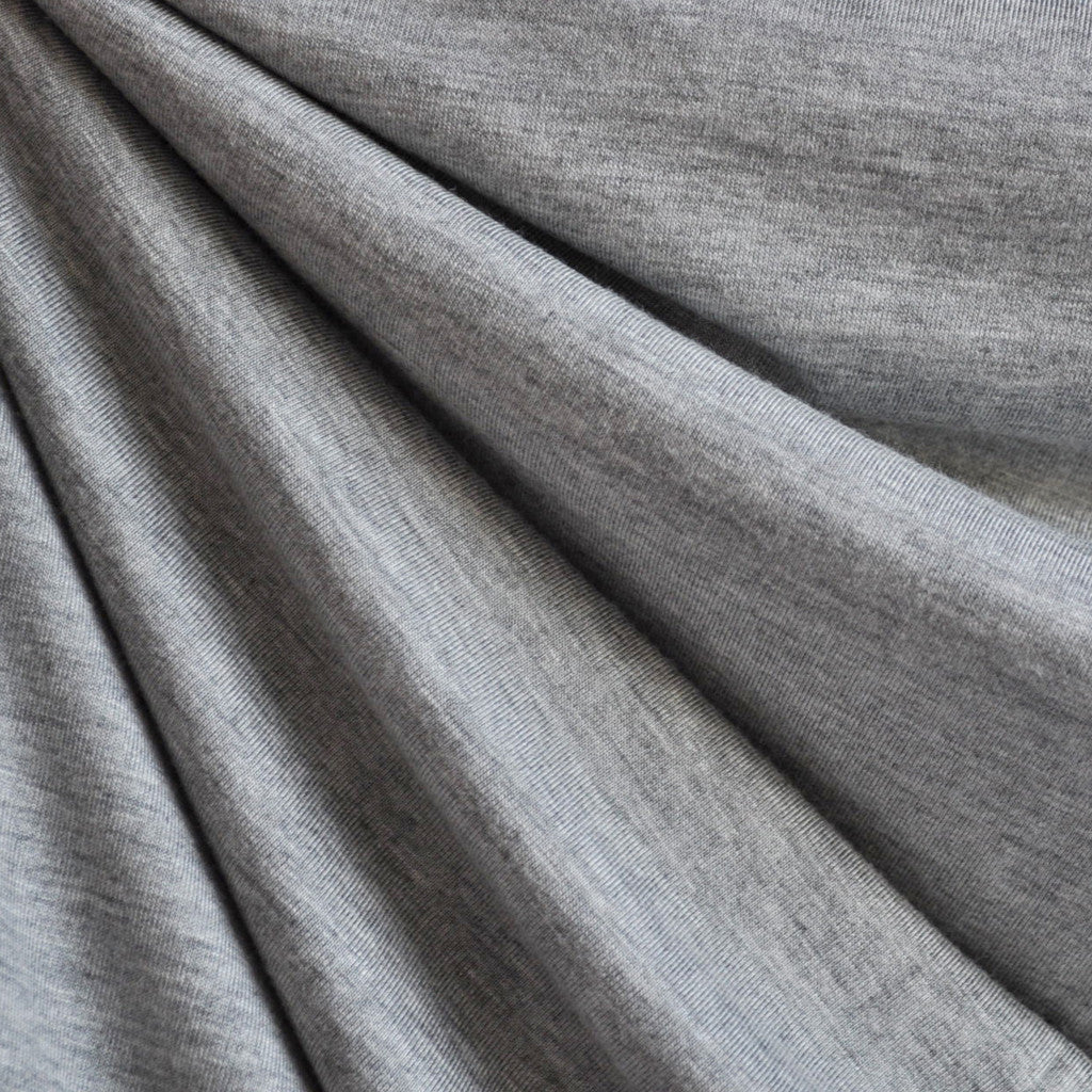 Jersey Knit Solid Light Heather Grey - Fabric - Style Maker Fabrics