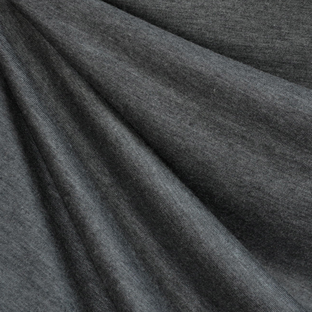 Jersey Knit Solid Charcoal Heather Grey - Sold Out - Style Maker Fabrics