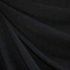 Jersey Knit Solid Black - Fabric - Style Maker Fabrics
