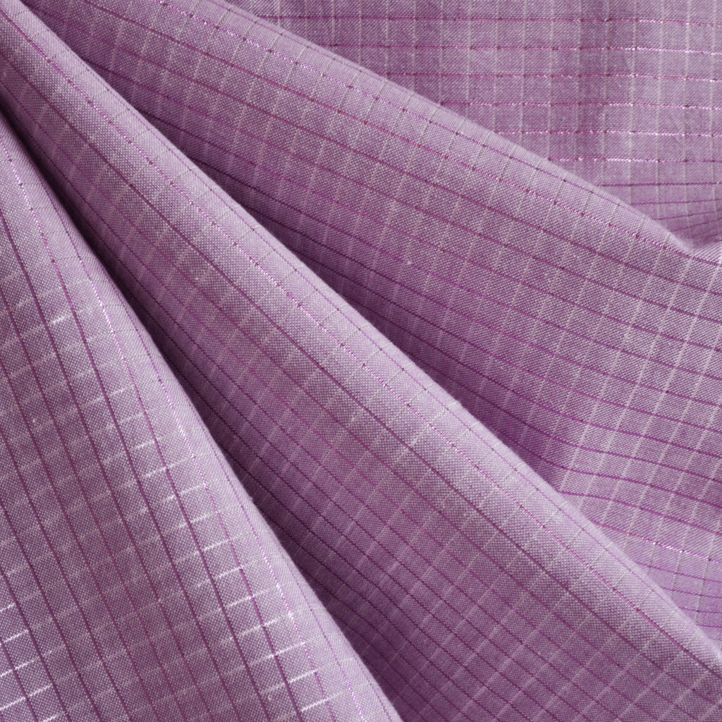 Loominous Shirting Illuminated Graph Plum - Fabric - Style Maker Fabrics