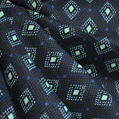 Lucky Strikes Lawn Nine Pin Black - Fabric - Style Maker Fabrics