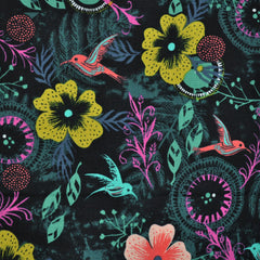 Honeymoon Cotton Morning Dew Black - Sold Out - Style Maker Fabrics