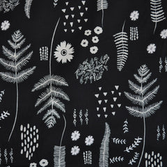 Black & White Cotton Fern Book - Sold Out - Style Maker Fabrics