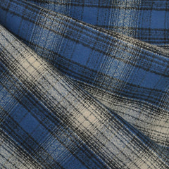 Mammoth Flannel Plaid Blue/Black/Cream SY - Sold Out - Style Maker Fabrics