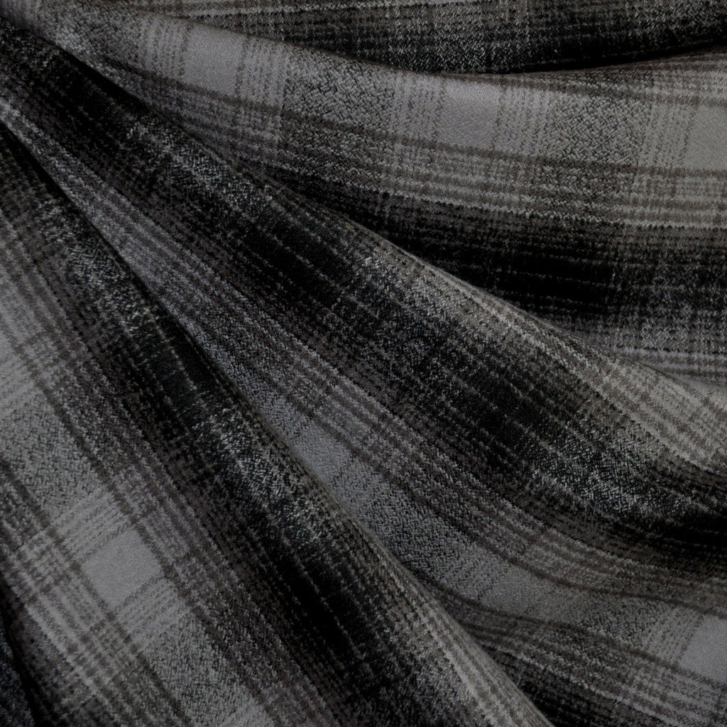 Mammoth Flannel Plaid Grey/Black - Sold Out - Style Maker Fabrics