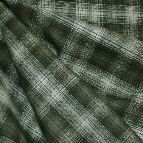 Mammoth Flannel Plaid Olive/Cream