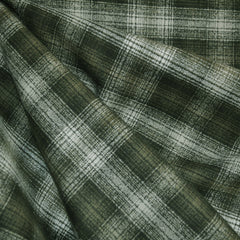 Mammoth Flannel Plaid Olive/Cream SY - Sold Out - Style Maker Fabrics