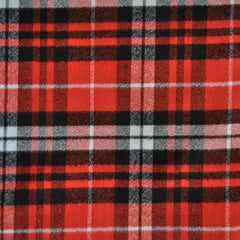 Mammoth Flannel Plaid Red/Black/White - Fabric - Style Maker Fabrics