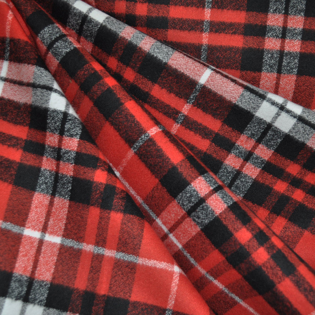 mammoth flannel plaid red black white style maker fabrics