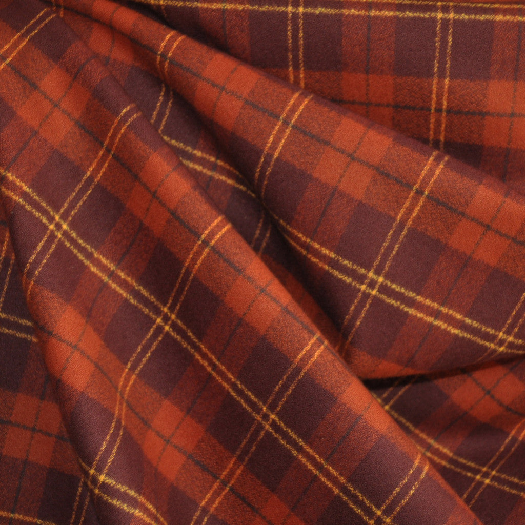 Mammoth Flannel Plaid Rust SY - Sold Out - Style Maker Fabrics