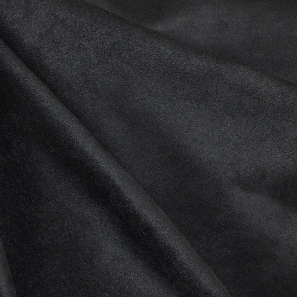 Luxury Faux Suede Black - Fabric - Style Maker Fabrics