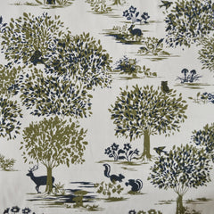 Wonder Forest Cotton Lawn Scenic Cream - Fabric - Style Maker Fabrics