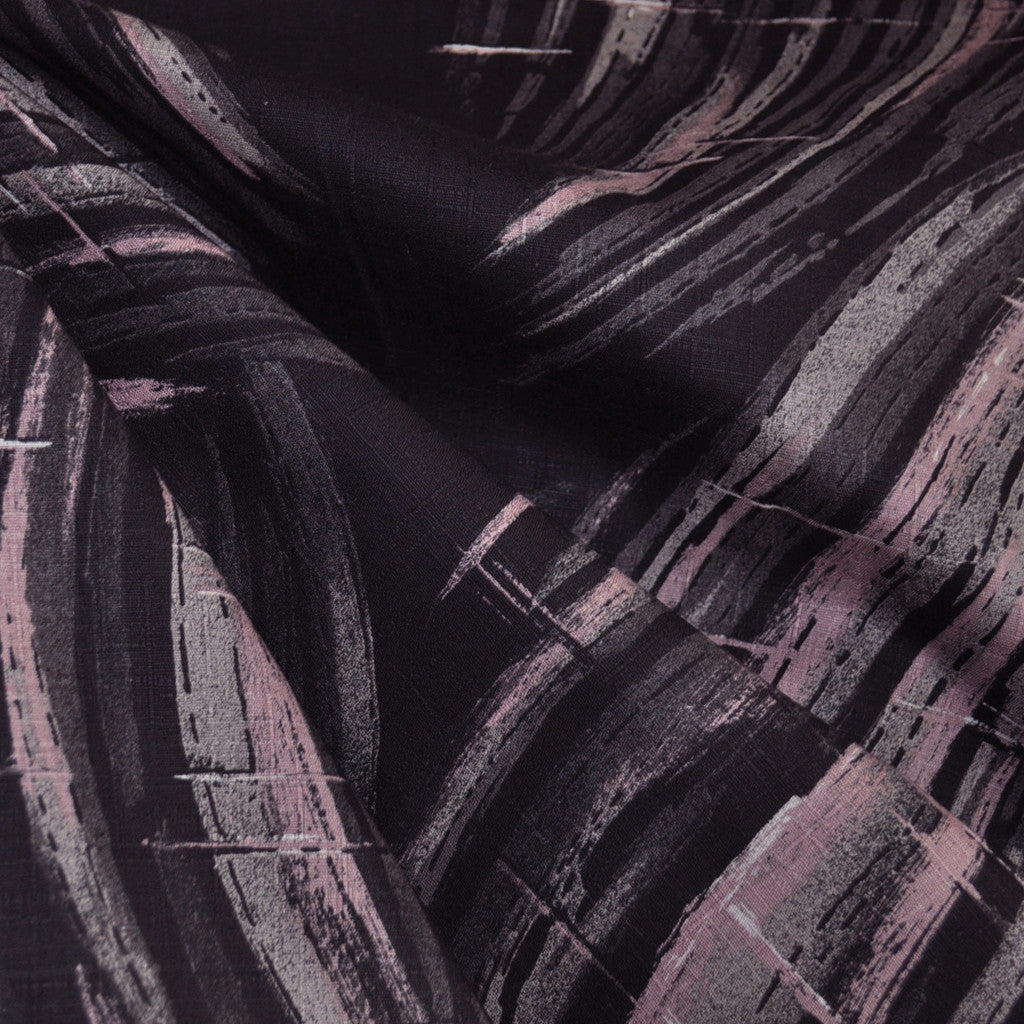 Japanese Cotton Dobby Brushstroke Black - Fabric - Style Maker Fabrics