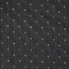Woven Shirting Square Dot Charcoal - Sold Out - Style Maker Fabrics
