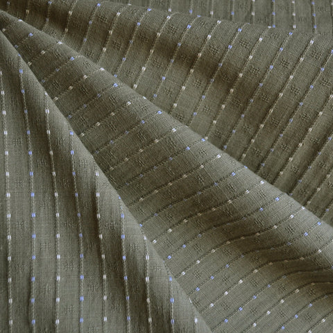 Woven Shirting Stripe Dot Olive